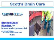 Scott's Drain Care - Blocked Drain Plumber