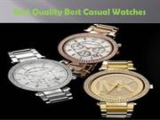 Make Right Selection To Get Best Casual Watches