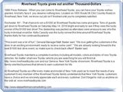 Riverhead Toyota gives out another Thousand-Dollars