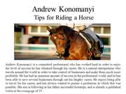 Andrew Konomanyi-Tips for Riding a Horse