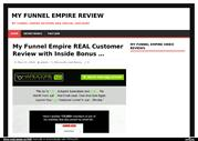 My Funnel Empire Customer Review with Secret Inside