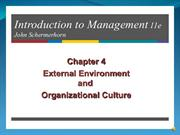 EDM106 - REPORT  CHAPTER 4 EXTERNAL ENVIRONMENT&ORGANIZATIONAL CULTURE