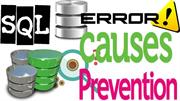 sql database errors causes prevention