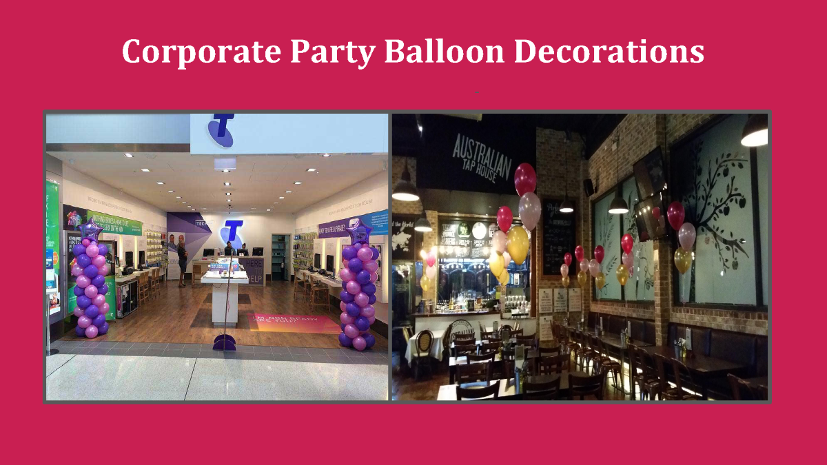Corporate party balloon decorations authorstream for Balloon decoration for corporate events