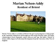 Marian Nelson-Addy Resident of Bristol