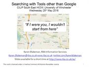 Searching with tools other than Google