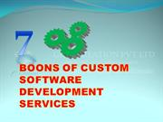7 BOONS OF CUSTOM SOFTWARE DEVELOPMENT SERVICES