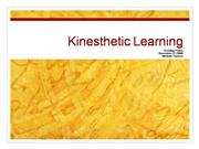 kinesthetic learning RP
