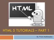 Introduction to HTML5, HTML5 Basics, HTML5 Introduction - Prism