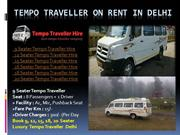 Tempo traveller hire in delhi NCR