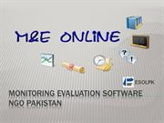 monitoring Evaluation software NGO Pakistan
