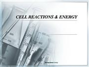 Cell Reactions and Energy