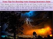 Some Tips for choosing water damage insurance claim