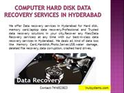 Computer Hard Disk Data Recovery Services in Hyderabad