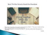 best thriller novels heed the mandate