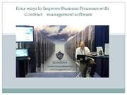 Four ways to Improve Business Processes with Contract management softw