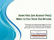 Some Free (or Almost Free) Ways to File Your Tax Return