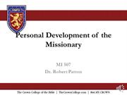 MI 507 audio Discipleship Lesson 2