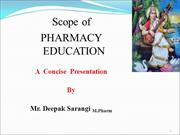 Scope of pharmacy ppt