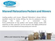Maxwell Relocations Packers and Movers