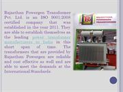 Reliable Power Transformer Manufacturers in India