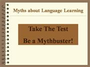 Language learning myths (test)