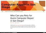 Computer Repair in San Diego: Best Service for Your Computer