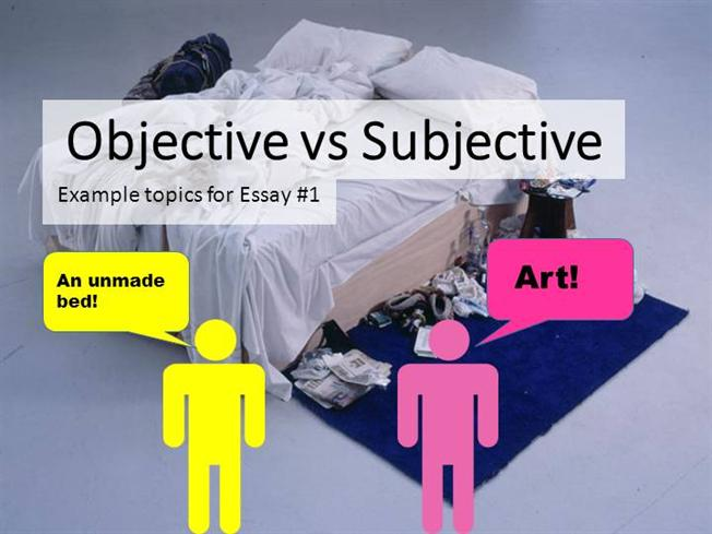 Subjective essay