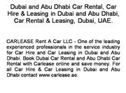 Lease a Car in Dubai and Abu Dhabi