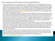 The Negatives and Positives of Concierge Medicine