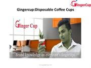 Gingercup,Disposable Coffee Cups