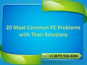 20 Most Common PC Problems with Their Solutions