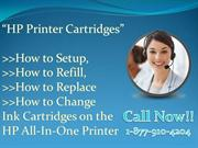 How to Replace or Change Ink Cartridges on the HP All-In-One Printer?