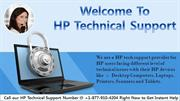 HP Technical Support Phone Number for HP Devices Problem