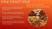 Buy dry fruits online