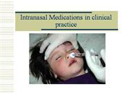 Intranasal drug delivery overview