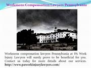 Pennsylvania Workers Compensation Lawyers