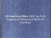 All American Rides LLC has Fully Engineered Mechanical Bulls for Sale