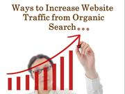 Way to Increase Website Traffic from Organic Search