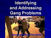 Identifying and Addressing a Gang Proble