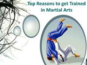 Top Reasons to get Trained in Martial Arts
