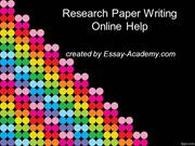 Research Paper Writing Online Help