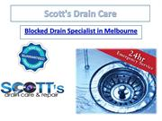 Scott's Drain Care - Blocked Drain Specialist in Melbourne