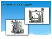 Clean- In-Place (CIP) Systems