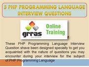 PHP Programming Language Interview Questions