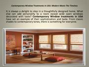 Contemporary Window Treatments In USA