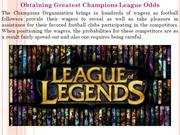 Obtaining Greatest Champions League Odds