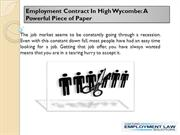 Employment Contract In High Wycombe: A Powerful Piece of Paper