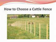 How to Choose a Cattle Fence
