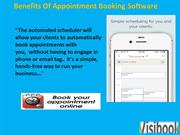 Benefits Of Appointment Booking Software